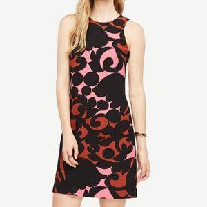 Ann Taylor Tulip Halter Shift Dress sz 0 new black